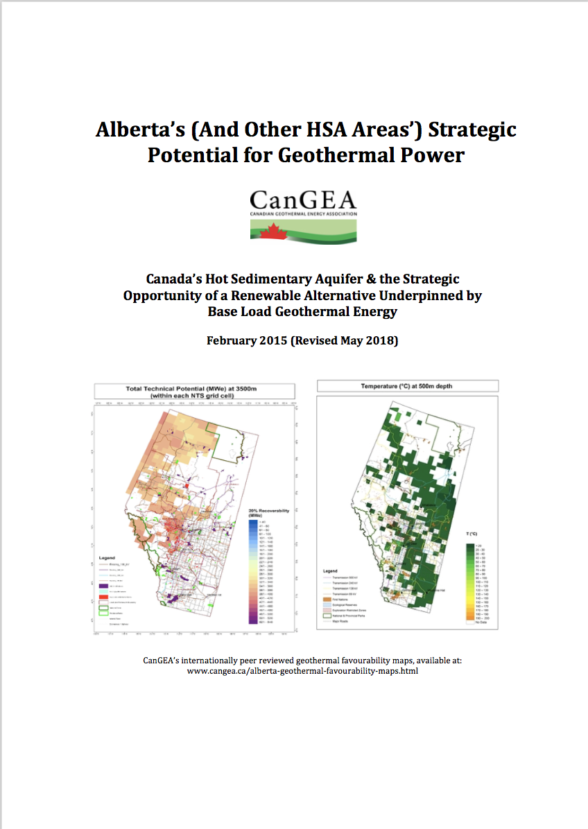 Reports & Resource Material - CANADIAN GEOTHERMAL ENERGY ASSOCIATION